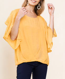 Honey Ruffle Sleeve Top