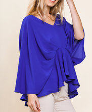 Royal Blue Pintuck Top
