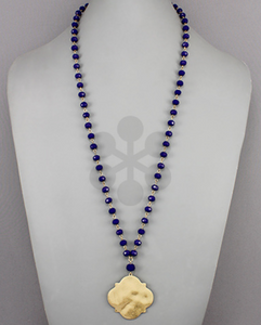 Royal Blue/Gold Necklace