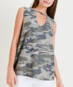 Camo Sleevless Top