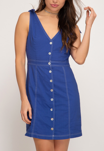 Royal Blue Button Down Dress
