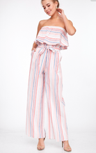 Multi Striped Ruffle Jumpsuit