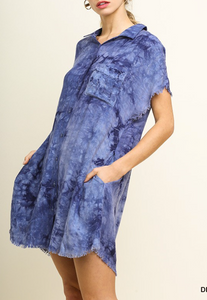 Denim Tie Dye Dress