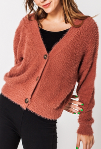 Pink Fuzzy Sweater/Cardigan