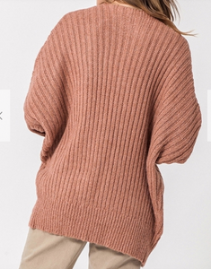 Rose Tan Dolman Sleeve Sweater