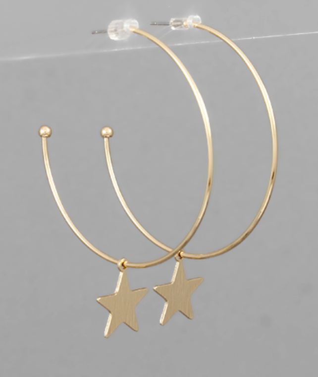 Star Dangle Hoops