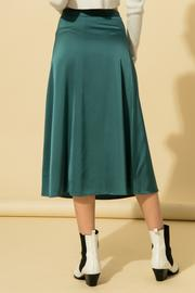 Teal Satin Skirt