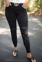KanCan Black Distressed Pants