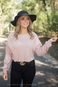 Rose Long Sleeve Crop Tee