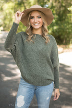 Olive Dolman Sleeve Sweater