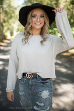 Taupe Flare Sleeve Top