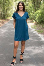 Teal Pocket Tee Dress