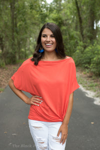 Orange Off The Shoulder Top