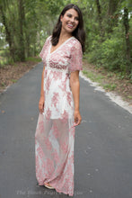 Flower Printed Maxi Dress