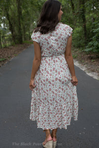 Floral Ruffle High/Low Dress