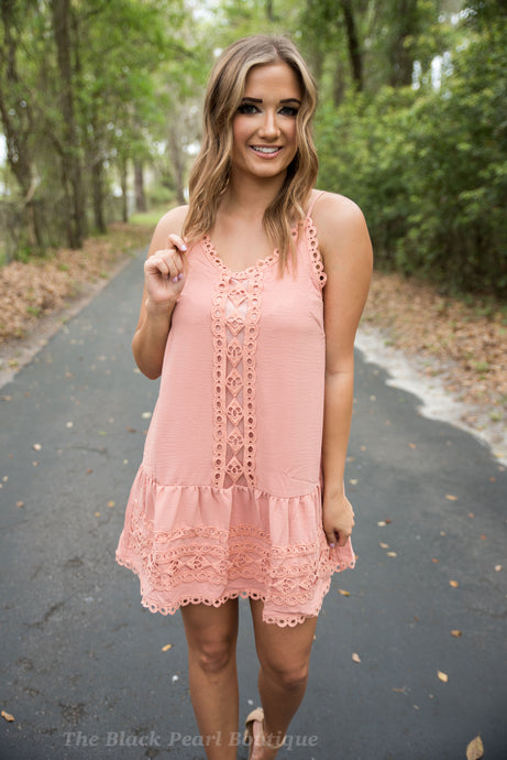 Blush Crochet Dress