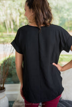 All Black Blouse