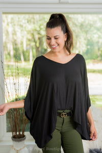Black Oversized Top