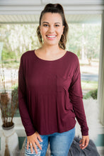 Burgundy Long Sleeve Top