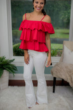 Red Ruffle Top