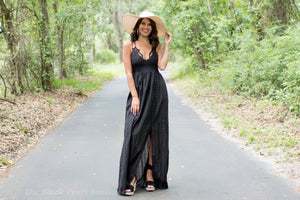 Black Maxi Dress W/Pockets