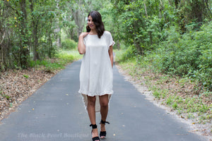 Oatmeal Fringe Dress