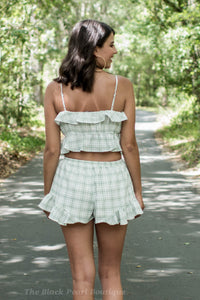 Sage Plaid 2 Piece Set
