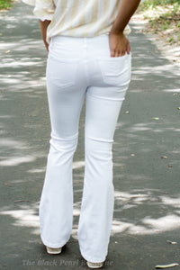 White Bell Bottom Jeans
