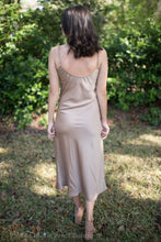 Taupe Cowl Neck Midi Dress