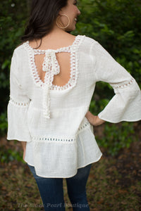 Natural Babydoll Blouse