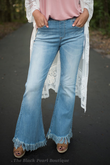 Fray Flare Jeans