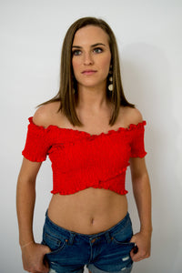 Red Crop Top