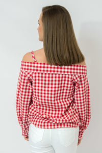 Red/White Gingham Top