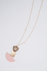 Rose/Gray/Gold necklace