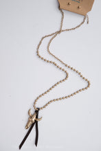 Gold Long Horn Necklace
