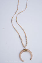 Natural Beaded Horn Necklace