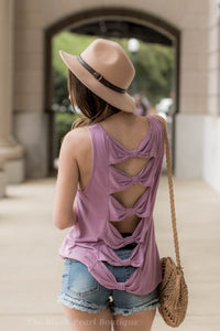 Orchid Tank With Tie Knot Back