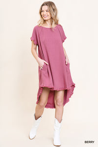 Berry Fringe Dress