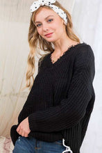 Black 2 Way V Neck Sweater