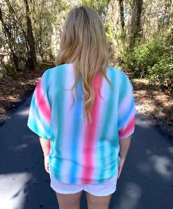 Gradation Stripe Top