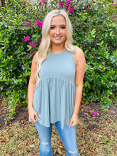 Light Green Peplum Top