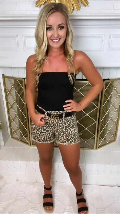 Leopard High Rise Shorts