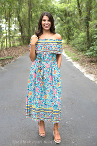 Turquoise Midi Dress