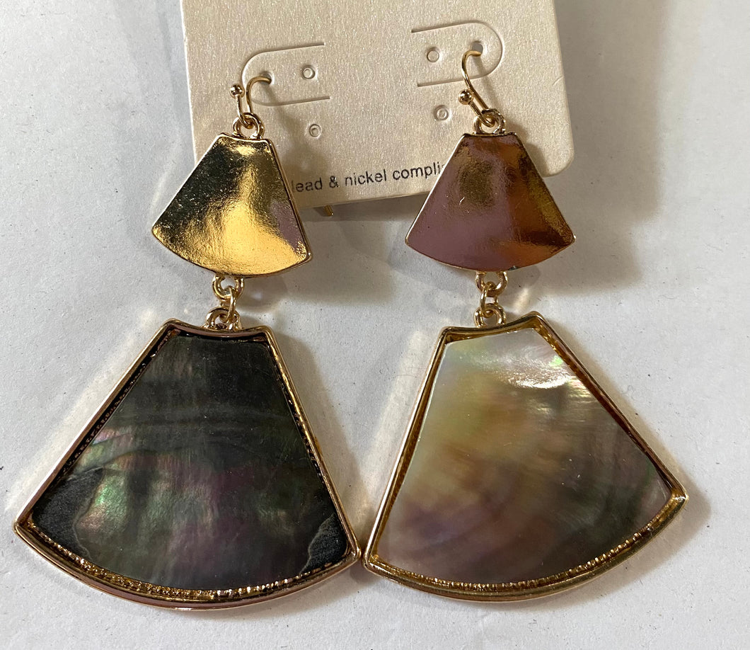 Gray/Gold Earrings