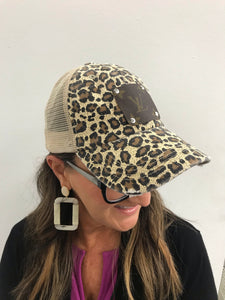 Authentic Louis Vuitton Cheetah Print Hat