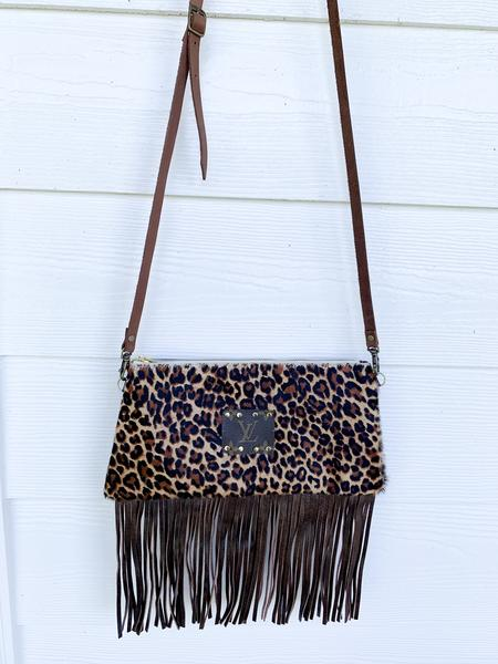 Cheetah Cowhide Louis Patch Crossbody