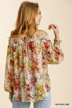 Ivory Floral Off The Shoulder Blouse