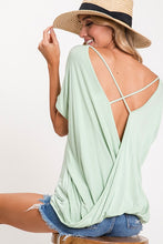 Sage Criss Cross Back Top