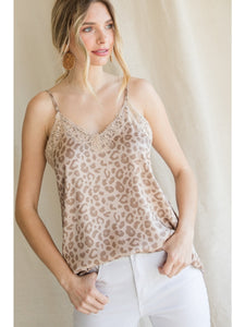 Taupe Leopard Cami