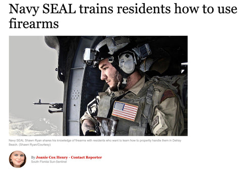 Navy Seal trains residents how to use firearms
